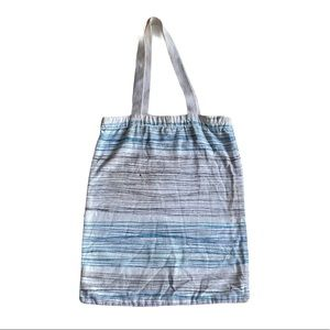 Anthropologie striped canvas tote bag